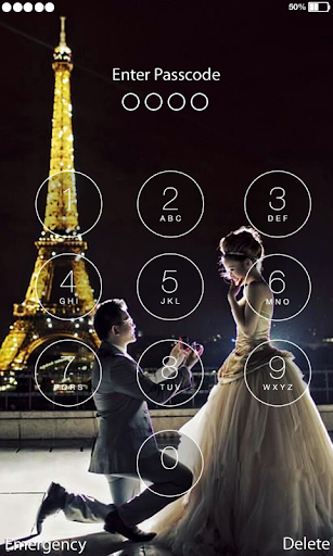 Love Paris Lock Screen