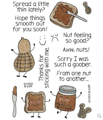 Inky Antics Clear Stamp Set - Peanut Butter  UTGÅENDE