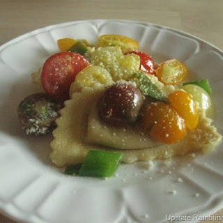 Roasted Butternut Squash Agnolotti with Grape Tomatoes