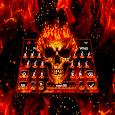 Fire Burning Skull Keyboard Theme