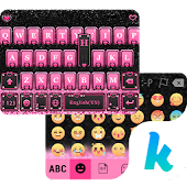 Pink Heart Kika Keyboard Theme