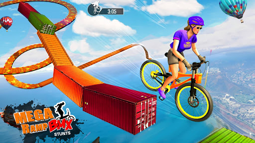 Mega Ramp BMX Bicycle Racing : Tricky Stunts 2020 filehippodl screenshot 4