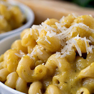 Pasta with Yellow Pepper Sauce.