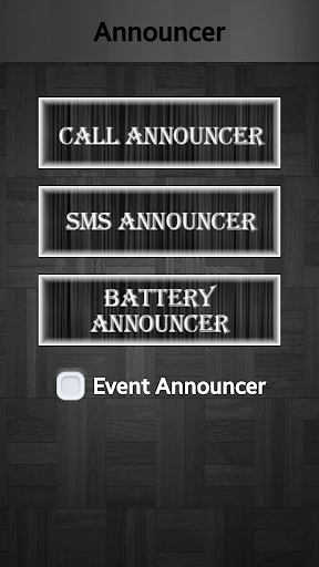 Call SMS Battery Announcer