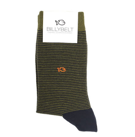 BillyBelt Cotton sock khaki striped