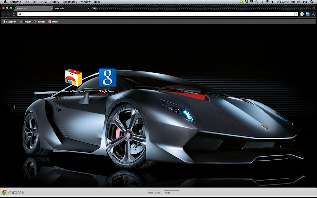 a theme inspired by the sesto elemento a supercar produced by lamborghini