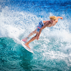 happiness by Kelley Hurwitz Ahr - Sports & Fitness Surfing ( surf,  )