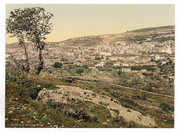 Nazareth in the Galilee, from the east.