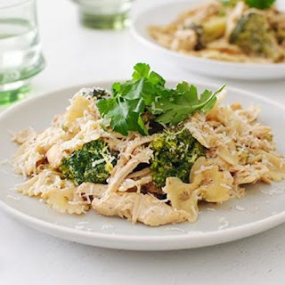 Slow-Cooker Chicken Broccoli Alfredo.
