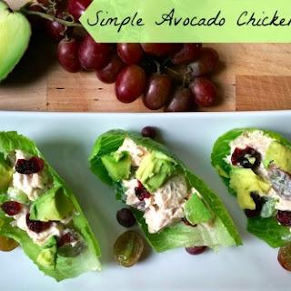 Simple Avocado Chicken Salad