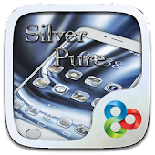 Silver Pure Go Launcher Theme