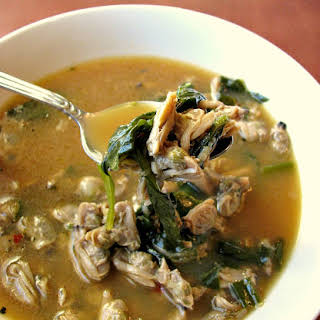 Spinach Clam Soup.