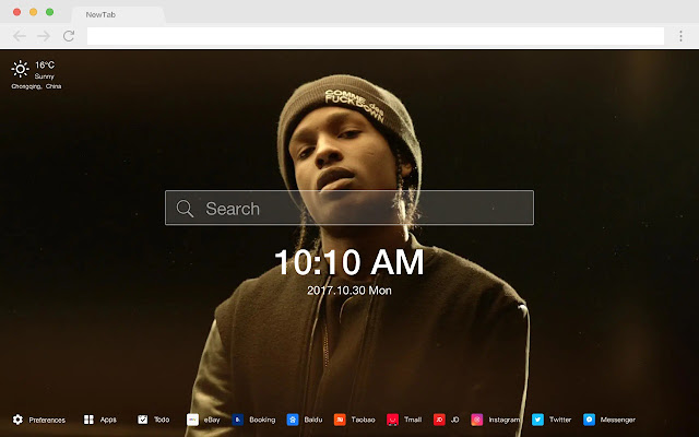 A$AP ROCKY New Tab Page HD Hot Singer Theme