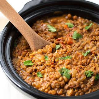 Crock Pot Curry Lentils.