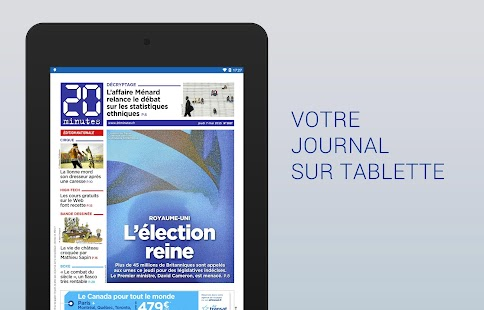 20 Minutes le journal- screenshot thumbnail