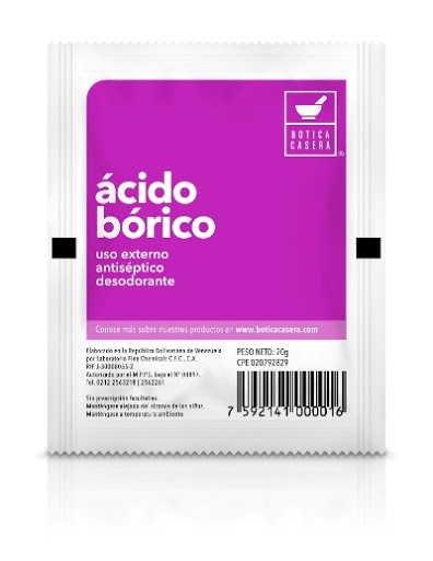 Acido Bórico x 20 g ACIDO BORICO X 20 G