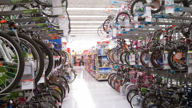 Photo: After getting all of my needed garden supplies, I couldn't help but notice the selection of bikes Wal Mart has. I mean, it's massive! They have a ton to choose from!