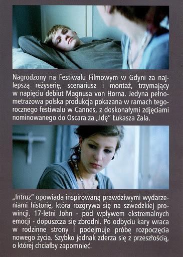 Tył ulotki filmu 'Intruz'