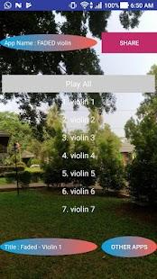 FADED violin - náhled