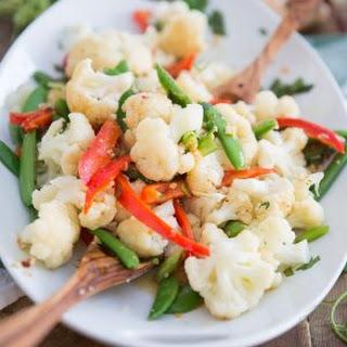 Ginger Garlic Steamed Vegetables.