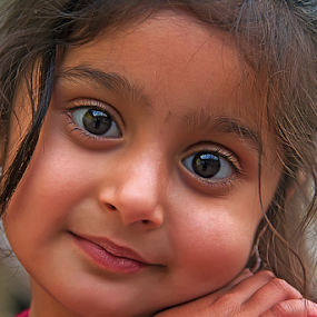 Honor by Kamran Khan - Babies & Children Child Portraits ( girl child, love, swat photography, daughter, kids, smile, sweat, kids portrait, eyes )