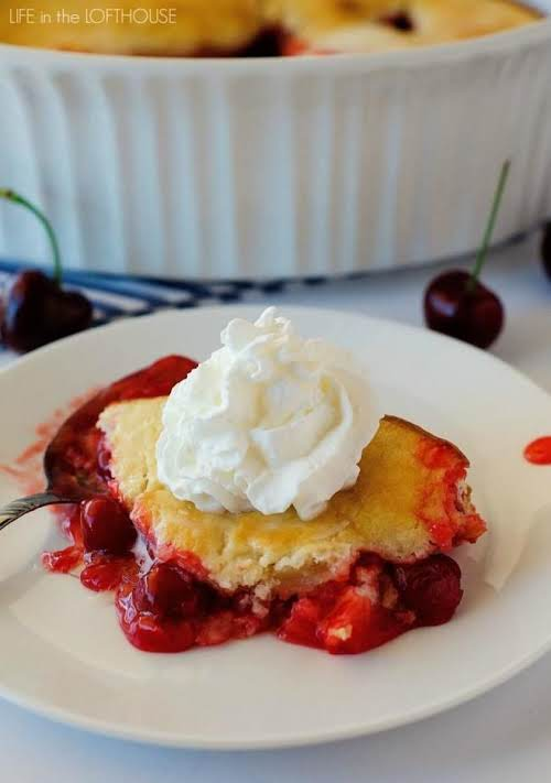 """Click Here for Recipe: Cherry Cobbler """"This Easy Cherry Cobbler is a..."""
