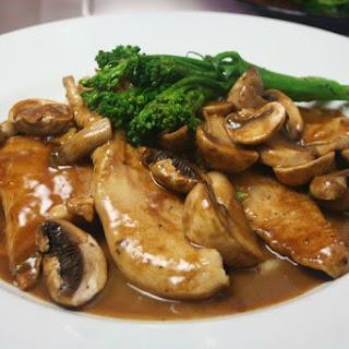 Healthier Chicken Marsala.