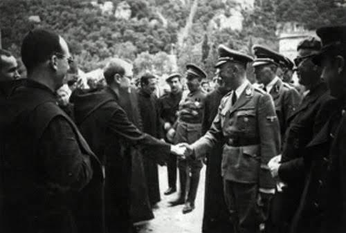 Himmler en el monasterio de Montserrat