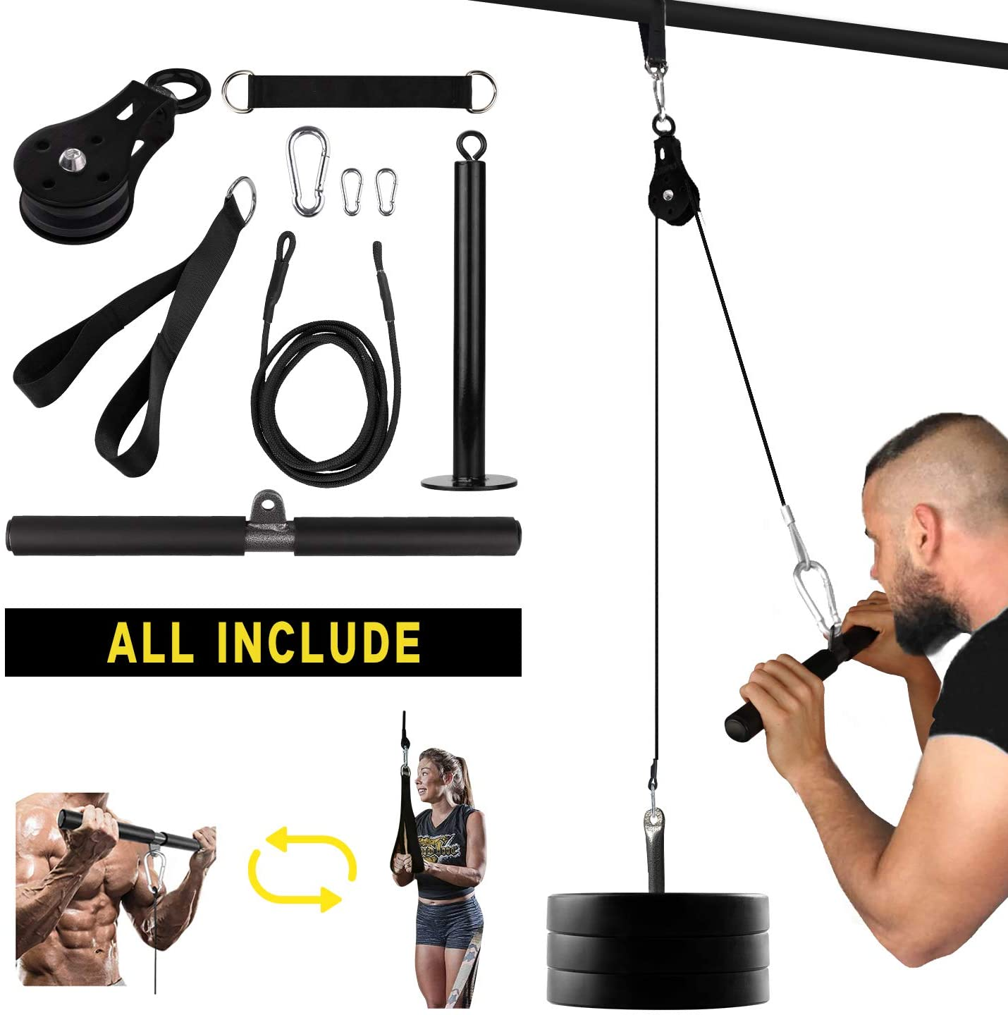 ARCHON Fitness Single Pulley Cable Station is cheaply made meant for short-term use