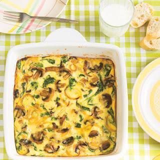 Mushroom and Spinach Frittata Recipe