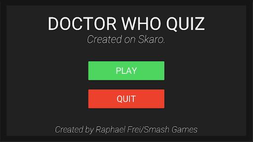 Doctor Who Quiz  captures d'u00e9cran 1