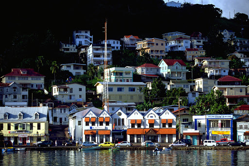 Stroll along the waterfront of St. George's on the island of Grenada.