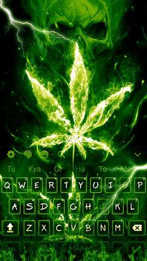 Weed Rasta Skull Fire Keyboard 10001003 screenshots 4