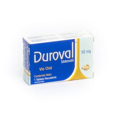 Sildenafil Duroval Morocho 50 mg x 1 Tableta