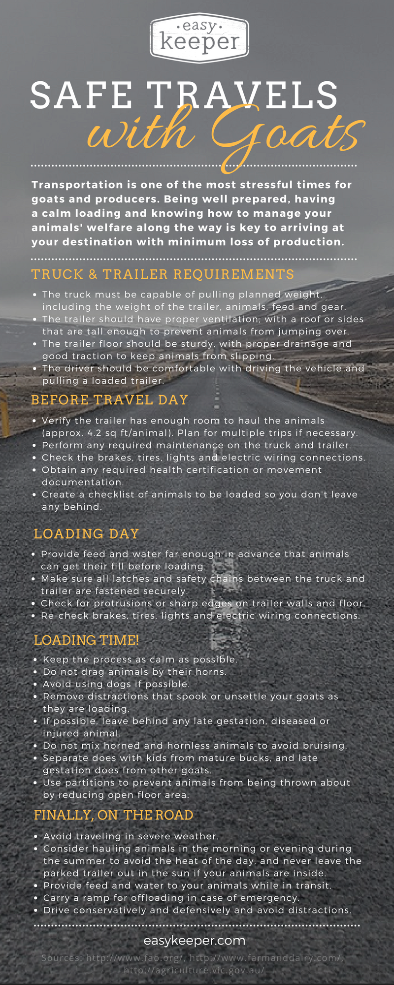 safe travels with goats infographic