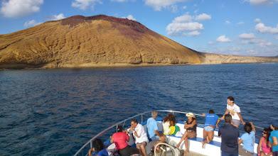 Photo: La Graciosa mit Montaña amarilla und der Playa Cocina
