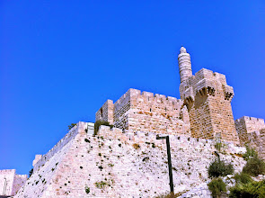 Photo: First sight of the Old City Wall.