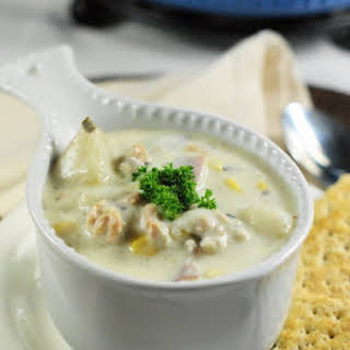 Slow-Cooker Clam Chowder.