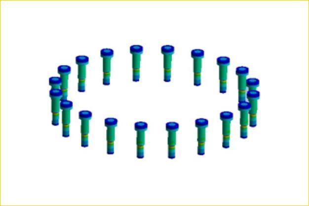 ANSYS - Моделирование болтового соединения фланца трубопровода