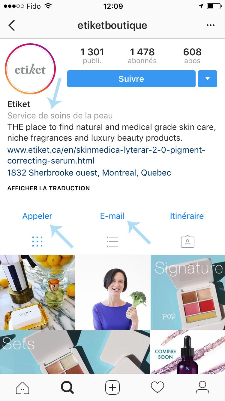 compte instagram Etiket