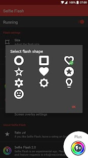 Selfie Flash - bright pictures in any camera app Screenshot