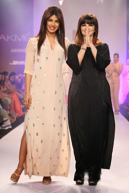 Priyanka Chopra with Neeta Lulla