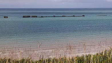Photo: Remnants of breakwater