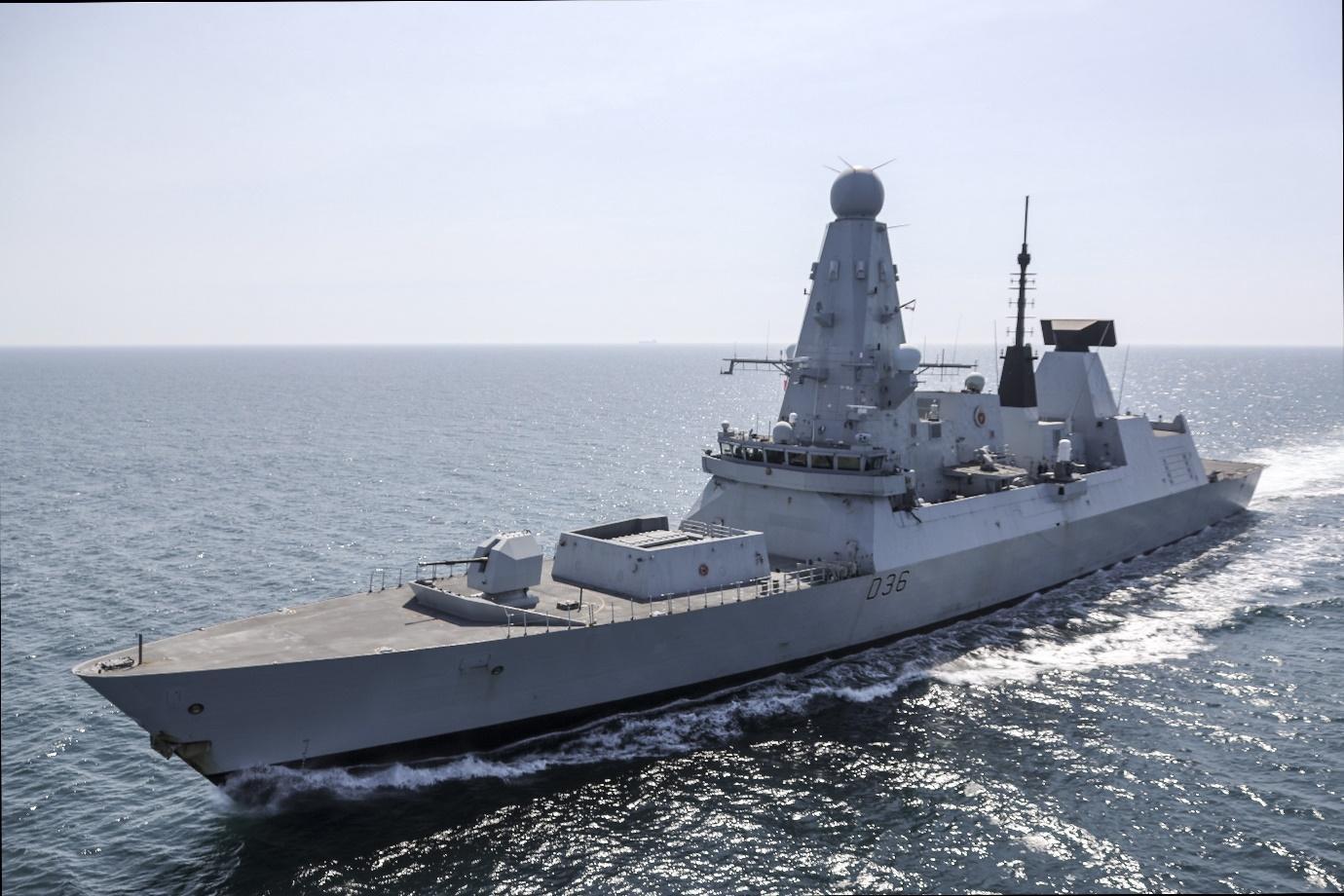 An image of HMS Defender.
