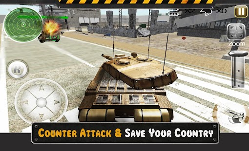 Nádrž obrana útok 3D - náhled