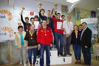 Photo: Białostocka Gimnazjada Strzelecka drużyna chłopców II m.
