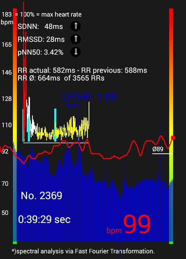 BLE Heart Rate & HRV:  Monitoring and Recorder- screenshot