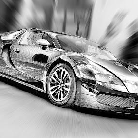 Bugatti Veyron  by Andy Barrow - Transportation Automobiles
