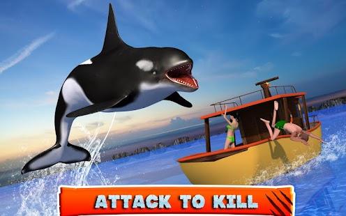 Killer Whale Beach Attack 3D- screenshot