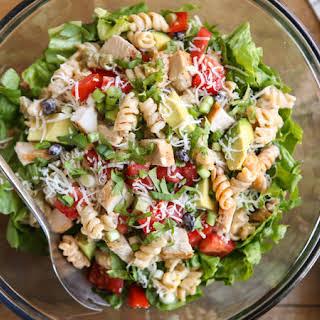 Southwest Green Chile-Chicken Pasta Salad.